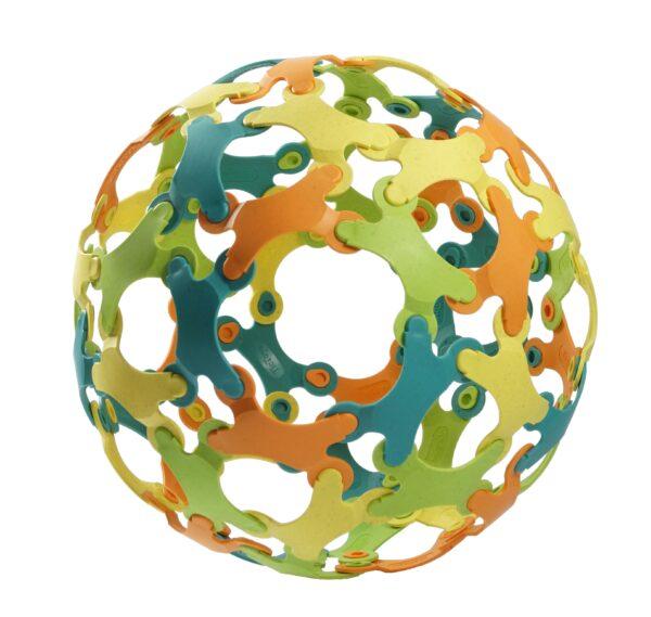 Binabo – mehr als ein Ball und so wie Lego – nur anders. Testen Sie die Kreativität in 60 bunten Teilen.
