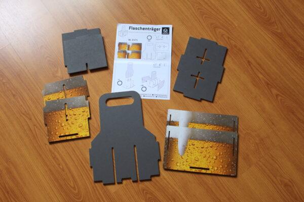 Geliefert wird der Träger in 8 einzelnen Platten als patentiertes Werkhaus-Stecksystem und einer Aufbauanleitung.