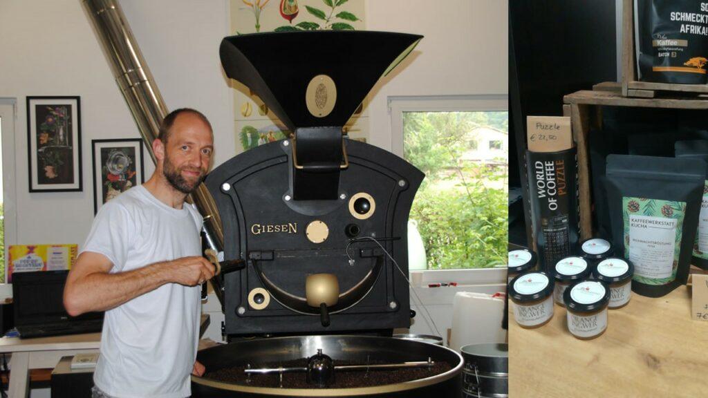 """Sie lieben guten Kaffee und Puzzles? Dann besuchen Sie Markus Gaibl: er röstet hervorragenden Kaffee und bietet auch unser Puzzle """"World of Coffee"""" an"""