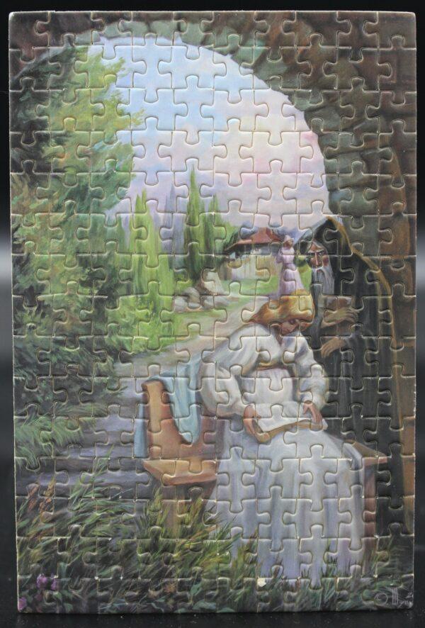 """Das Kunstwerk des ukrainischen Künstlers Oleg Shuplyak mit dem Titel """"Darwin-Science&Religion"""" nach dem Puzzeln der 150 Teile"""
