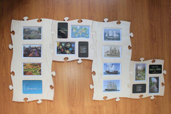 Es gibt unzählige Puzzles des Herstellers Londji, speziell für Spiel ein Spiel wurden aktuell 9 eigene Motive.