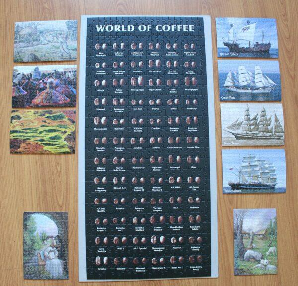 150 Teile sind Ihnen zu wenig? Dann versuchen Sie unser 500-Teile-Puzzle mit den Kaffeebohnen der Welt…