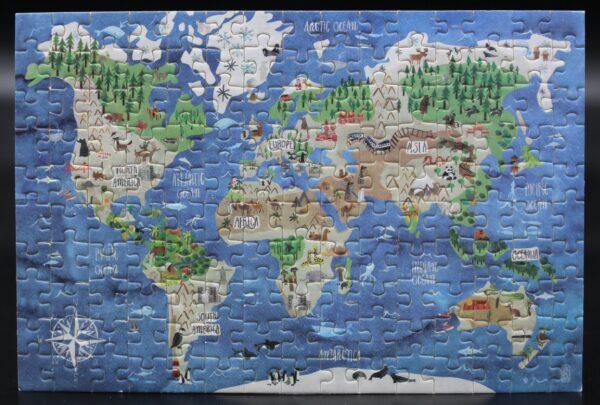 Dieses Londji-Puzzle zeigt das Discovery-Motiv The World – Ein Blick auf die Welt in 150 Teilen.