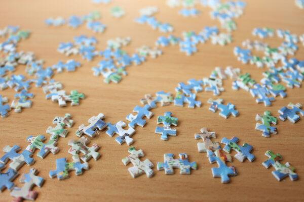 So sehen die Puzzle-Teile aus wie die großen Brüder…