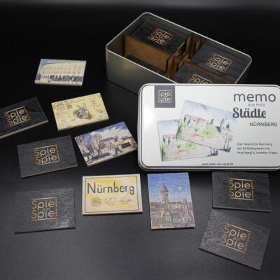Die Highlights Nürnbergs mal nicht aus Sicht einer Ansichtskarte oder eines Fotos, sondern malerisch umgesetzt