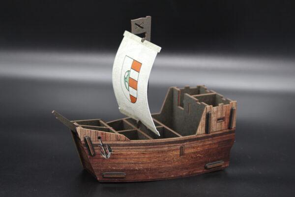 Sie lieben Schiffe?? Alte Schiffe? Dann ist dieser Stifthalter mit der Optik einer Kogge ideal!!