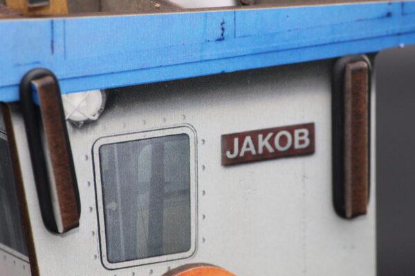 """Aktuell lautet der Name des Kutters """"Jakob"""" – Sie können ihn natürlich jederzeit individuell umtaufen!"""