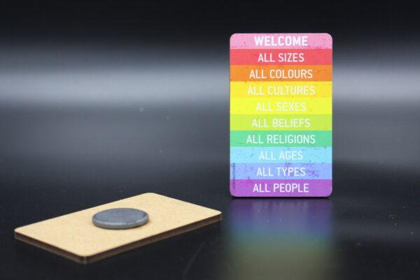 Sagen auch Sie Welcome an jeder Stelle, wo ein Magnet hält…